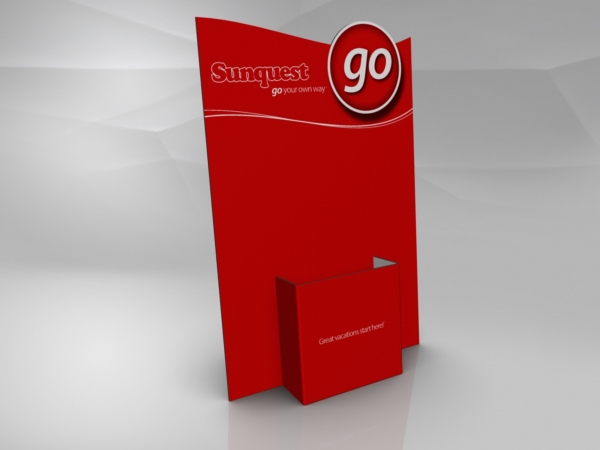 Corrugated countertop brochure holder