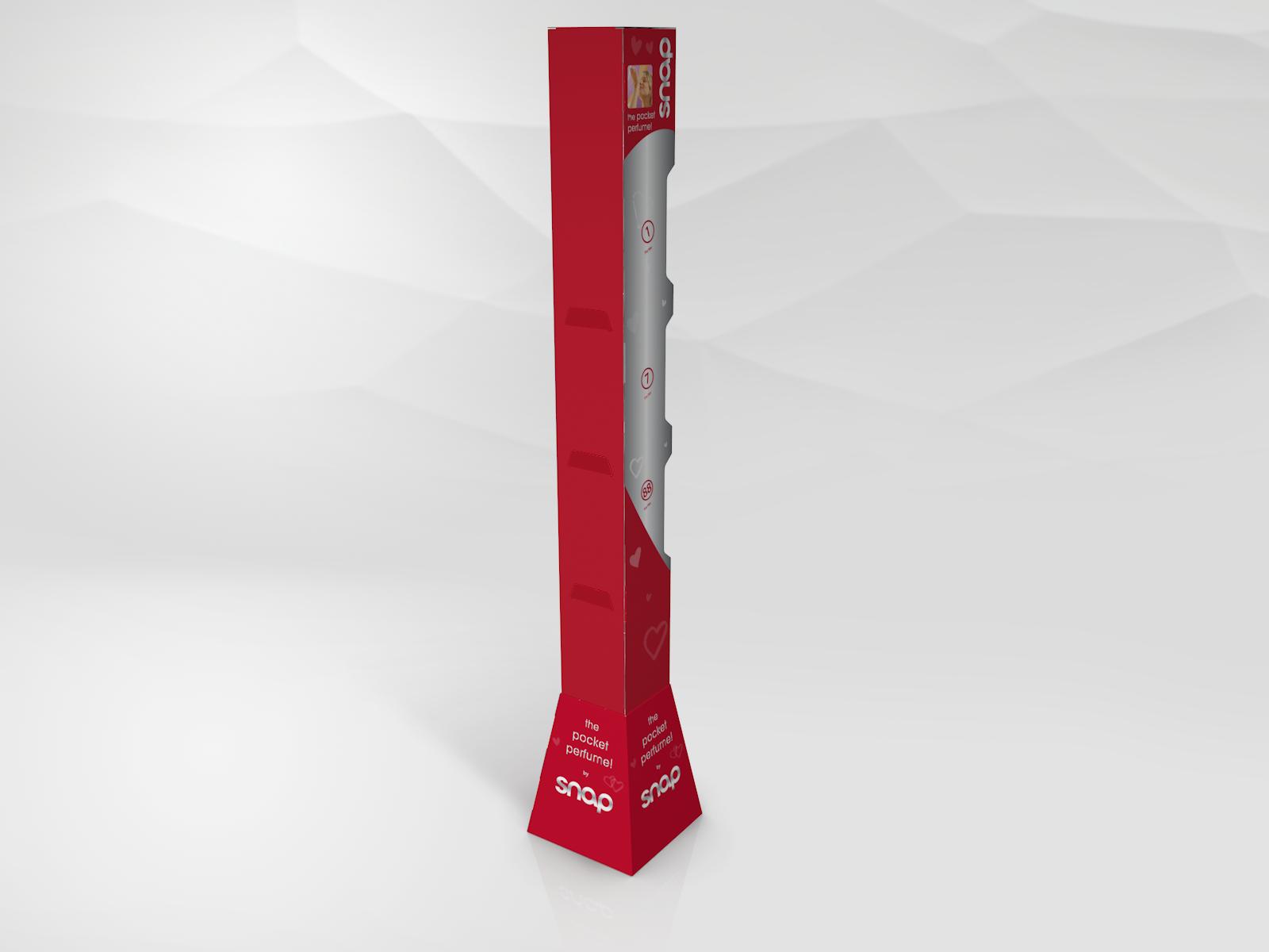 Slim tower display